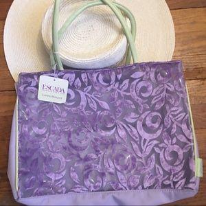 Escada Tote - Loving bouquet tote lavender velvet